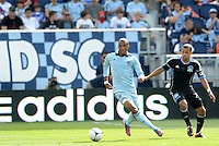 Kansas City foward Teal Bunbury (9) in action... Sporting Kansas City defeated San Jose Earthquakes 2-1 at LIVESTRONG Sporting Park, Kansas City, Kansas.