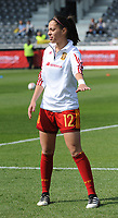 20170408 - EUPEN ,  BELGIUM : Spanish Paula Nicart pictured during the female soccer game between the Belgian Red Flames and Spain , a friendly game before the European Championship in The Netherlands 2017  , Saturday 8 th April 2017 at Stadion Kehrweg  in Eupen , Belgium. PHOTO SPORTPIX.BE | DIRK VUYLSTEKE