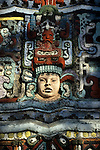 Detail of exterior of Mayan Theater in downtown Los Angeles, CA