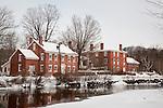 A snowy New England mill village, Harrisville, NH