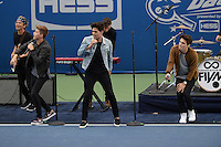 FLUSHING NY- AUGUST 27: Emery Kelly, Liam Attridge and Ricky Garcia of Forever In Your Mind perform during Arthur Ashe kids day at the USTA Billie Jean King National Tennis Center on August 27, 2016 in Flushing Queens. Photo byMPI04 / MediaPunch