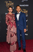 John Legend &amp; Chrissy Teigen at the premiere for Disney's &quot;Beauty and the Beast&quot; at El Capitan Theatre, Hollywood. Los Angeles, USA 02 March  2017<br /> Picture: Paul Smith/Featureflash/SilverHub 0208 004 5359 sales@silverhubmedia.com