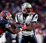 18 November 2007: New England Patriots wide receiver Randy Moss in action against the Buffalo Bills at Ralph Wilson Stadium in Orchard Park, NY. The Patriots defeated the Bills 56-10 in their second meeting of the season...Mandatory Photo Credit: Ed Wolfstein Photo