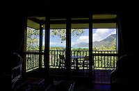 Thala Beach Lodge balcony overlooking the Coral Sea and Thala Beach, Port Douglas, Australia