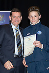 St Johnstone FC Youth Academy Presentation Night at Perth Concert Hall..21.04.14<br /> Chairman Steve Brown presents to Jamie MacKenzie<br /> Picture by Graeme Hart.<br /> Copyright Perthshire Picture Agency<br /> Tel: 01738 623350  Mobile: 07990 594431