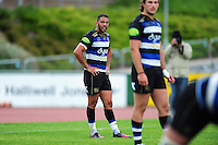 Dan Bowden of Bath Rugby looks on. Pre-season friendly match, between the Scarlets and Bath Rugby on August 20, 2016 at Eirias Park in Colwyn Bay, Wales. Photo by: Patrick Khachfe / Onside Images
