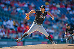 19 September 2015: Miami Marlins starting pitcher Brad Hand on the mound against the Washington Nationals at Nationals Park in Washington, DC. The Marlins fell to the Nationals 5-2 in the third game of their 4-game series. Mandatory Credit: Ed Wolfstein Photo *** RAW (NEF) Image File Available ***