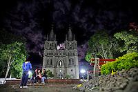 General view of Jardin's stone Cathedral in Antioquia August 1, 2012. Photo by Eduardo Munoz Alvarez / VIEW.