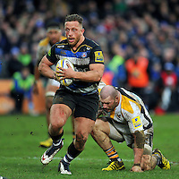 Max Lahiff of Bath Rugby in possession. Aviva Premiership match, between Bath Rugby and Wasps on February 20, 2016 at the Recreation Ground in Bath, England. Photo by: Patrick Khachfe / Onside Images