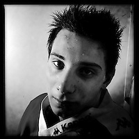 Ice Men Cometh&hellip;Martin Nikolov,17, Bulgaria..An iPhone portrait series on young men competing in the 2012 IIHF Ice Hockey World Championships Division 3. The tournament  was contested by countries New Zealand, Iceland, China, Bulgaria and Turkey at Dunedin Ice Stadium. Dunedin, Otago, New Zealand. 17th January 2012. Photo Tim Clayton