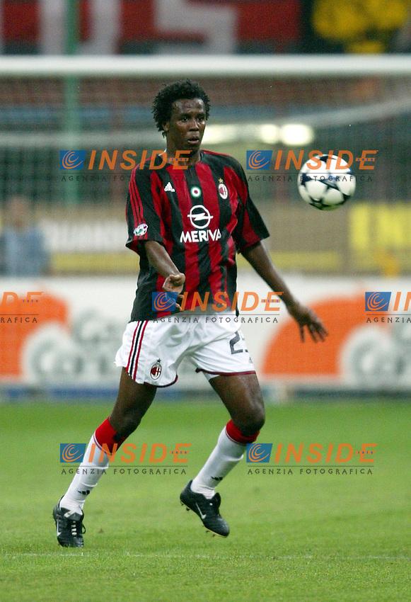 Milano 17/8/2003<br /> Trofeo Berlusconi<br /> Milan - Juventus<br /> Roque Junior (Milan)<br /> Foto Andrea Staccioli Insidefoto