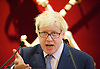 Boris Johnson <br /> Mayor of London <br /> key note speech on tackling air quality <br /> at Mansion House, London, Great Britain <br /> evening reception <br /> 29th July 2014 <br /> <br /> Speech setting out London's ambitious plans to tackle air quality and challenge the Govt and the EC to take similar action to help the capital comply with EU legal limits for nitrogen dioxide emissions by 2020. <br /> <br /> with the Lord Mayor of London Fiona Woolfe<br /> GP Hinduja from Optare <br /> Dheeraj G Hinduja <br /> John Tomlinson <br /> Photograph by Elliott Franks