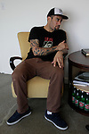Ben Harper at his studio in Santa Monica, California, U.S. December 7, 2012 ©Jonathan Alcorn/JTA
