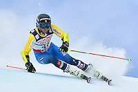 February 17, 2017: Mattias ROENNGREN (SWE) competing in the men's giant slalom event at the FIS Alpine World Ski Championships at St Moritz, Switzerland. Photo Sydney Low