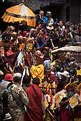 "Tourists gather to take photos of statues and dancers as they are brought out for a performance at the Hemis Monastery (gompa) of the Drukpa Lineage, located in Hemis, 45 kms away from Leh in Ladakh. ..His Holiness the Twelfth Gyalwang Drukpa, the head of the Drukpa Lineage (proponents of the Mahayana Buddhist tradition) ended his ""Walking On The World's Rooftop"" Pad Yatra from Manali to Hemis Monestary in Ladakh."