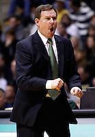 WEST LAFAYETTE, IN - DECEMBER 29: Head coach Tony Shaver of the William &amp; Mary Tribe reacts to a call against the Purdue Boilermakers at Mackey Arena on December 29, 2012 in West Lafayette, Indiana. Purdue defeated William &amp; Mary 73-66. (Photo by Michael Hickey/Getty Images) *** Local Caption *** Tony Shaver