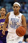 30 December 2014: North Carolina's Allisha Gray. The University of North Carolina Tar Heels hosted the University at Albany Great Danes at Carmichael Arena in Chapel Hill, North Carolina in a 2014-15 NCAA Division I Women's Basketball game. UNC won the game 71-56.