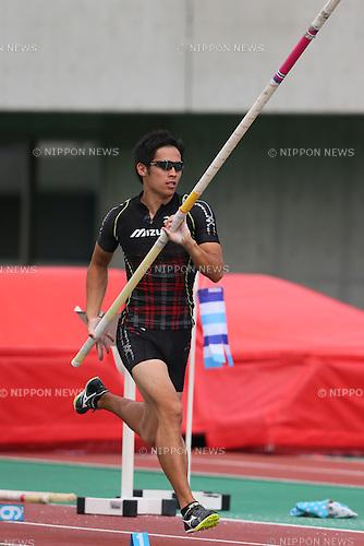 Hiroki Ogita, <br /> SEPTEMBER 22, 2013 - Athletics : <br /> The 61st All Japan Industrial Athletics Championship <br /> Men's Pole Vault <br /> at Kumagaya Sports Culture Park Athletics Stadium, Saitama, Japan. <br /> (Photo by YUTAKA/AFLO SPORT) [1040]