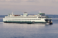 The Washington State ferry Walla Walla makes it's way from Bremerton to Seattle, Washington.