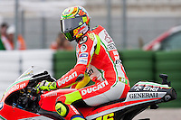 Valentino in the qualifying day