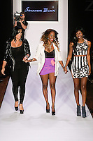 Fashion designer Samantha Black, wasks runway with special guests at the close of her Samantha Black Spring Summer 2012 collection fashion show, during Style 360 Fashion Week Spring 2012.