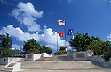 Court of Honor and Flag Circle at American Memorial Park, a WWII memorial; Saipan, Northern Marianas Islands.