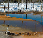 Opalescent Pool, Black Sand Basin, Winter, Yellowstone NP, WY
