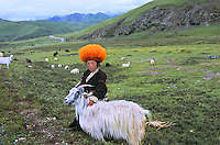 Orange hat boy in Deganga Valley, Kham, eastern Tibet, 2005