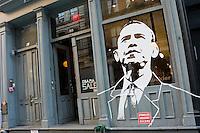 New York, NY - 31 October 2008 - Obama sale in Soho