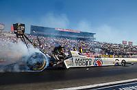 Nov 13, 2016; Pomona, CA, USA; NHRA top fuel driver Antron Brown during the Auto Club Finals at Auto Club Raceway at Pomona. Mandatory Credit: Mark J. Rebilas-USA TODAY Sports