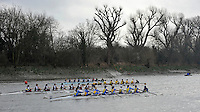 London, Great Britain,  General Views, from Chiswick Pier,  of the 2012  Women's Head of the River Race, raced over Rowing Course Championship course,  Mortlake to Putney  4.25 Miles, on the River Thames.   Saturday  03/03/2012 [Mandatory Credit: © Peter Spurrier/Intersport Images]