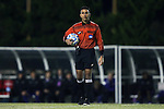 20 November 2014: Referee Mohammad Samadpour. The University of North Carolina Tar Heels hosted the James Madison University Dukes at Fetzer Field in Chapel Hill, NC in a 2014 NCAA Division I Men's Soccer Tournament First Round match. UNC won the game 6-0.