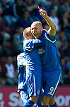 Hearts v St Johnstone...14.08.10  .Sam Parkin celebrates his goal with Jody Morris.Picture by Graeme Hart..Copyright Perthshire Picture Agency.Tel: 01738 623350  Mobile: 07990 594431