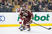 Isaac MacLeod (BC - 7) - The Boston College Eagles defeated the Boston University Terriers 3-1 (EN) in their opening round game of the 2014 Beanpot on Monday, February 3, 2014, at TD Garden in Boston, Massachusetts.