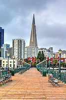 Architecture, building, business district, mist, downtown  san francisco city fog, skyline cityscape, tower, united states of america, usa