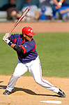 18 March 2006: Wiki Gonzalez, catcher for the Washington Nationals, at bat during a Spring Training game against the New York Mets at Space Coast Stadium, in Viera, Florida. The Nationals defeated the Mets 10-2 in Grapefruit League play...Mandatory Photo Credit: Ed Wolfstein Photo..