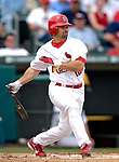 14 March 2007: St. Louis Cardinals second baseman Aaron Miles in the action against the Washington Nationals at Roger Dean Stadium in Jupiter, Florida...Mandatory Photo Credit: Ed Wolfstein Photo