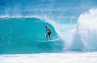 Geoff Darby (AUS)surfing Kirra during the swell generated from Cyclone Betsy. Betsy is considered one of the best cyclone swells in the past 20 years. Kirra Point, Coolangatta, Queensland, Australia. circa 1992. Photo: joliphotos.com