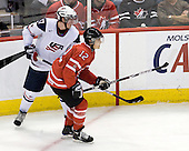 Ryan McDonagh (USA - 17), Brett Sonne (Canada - 12) - Canada defeated the US 7-4 on Wednesday, December 31, 2008, at Scotiabank Place in Kanata (Ottawa), Ontario during the 2009 World Junior Championship.