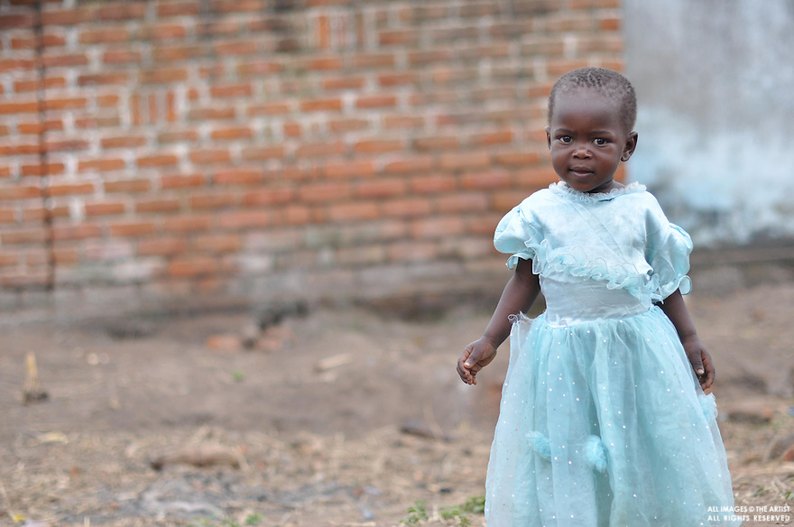 Baby girl with blue dress - Kuntonda Village - Mulanje District - Malawi Africa