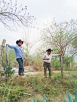 Leandro and Felipe at Felix´s ranch and distillery in El Potrero, Oaxaca, Oaxaca, Mexico