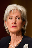 United States Secretary of Health and Human Services (HHS) Kathleen Sebelius testifies before the U.S. Senate Finance Committee during a hearing on the agency's FY 2013 budget proposal on Capitol Hill in Washington, D.C. on Wednesday, February 15, 2012..Credit: Ron Sachs / CNP