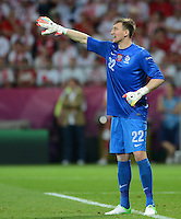 FUSSBALL  EUROPAMEISTERSCHAFT 2012   VORRUNDE Tschechien - Polen               16.06.2012 Torwart Przemys?aw Tyton (Polen)