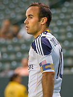 LA Galaxy forward Landon Donovan (10) prepares for a corner kick. The LA Galaxy and the San Jose Earthquakes played to a 2-2 draw at Home Depot Center stadium in Carson, California on Thursday July 22, 2010.