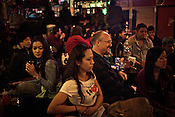 Tourists and Local Nepalese are seen enjoying themselves in a sheesha bar in Thamel in capital Kathmandu, Nepal