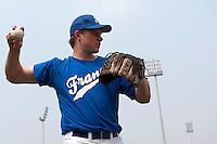 17 August 2007: Anthony Cros is seen during the Good Luck Beijing International baseball tournament (olympic test event) at the Wukesong Baseball Field in Beijing, China.