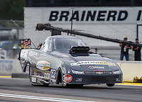 Aug 19, 2016; Brainerd, MN, USA; NHRA top alcohol funny car driver Jonnie Lindberg during qualifying for the Lucas Oil Nationals at Brainerd International Raceway. Mandatory Credit: Mark J. Rebilas-USA TODAY Sports
