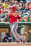 21 March 2015: Washington infielder Tony Renda in action during a Spring Training Split Squad game against the Atlanta Braves at Champion Stadium at the ESPN Wide World of Sports Complex in Kissimmee, Florida. The Braves defeated the Nationals 5-2 in Grapefruit League play. Mandatory Credit: Ed Wolfstein Photo *** RAW (NEF) Image File Available ***