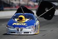 May 5, 2012; Commerce, GA, USA: NHRA pro stock driver Rodger Brogdon during qualifying for the Southern Nationals at Atlanta Dragway. Mandatory Credit: Mark J. Rebilas-