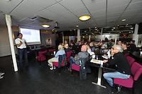 SCHAATSEN: HEERENVEEN: 05-10-2013, IJsstadion Thialf, Weekend van de Wetenschap, presentatie van Aart van der Wulp (Labmanager InnoSportLab Thialf), ©foto Martin de Jong